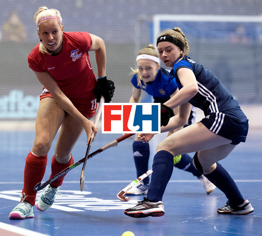 BERLIN - Indoor Hockey World Cup<br /> Women: Russia - Czech Republic<br /> foto: MEJZLIKOVA Tereza.<br /> WORLDSPORTPICS COPYRIGHT FRANK UIJLENBROEK