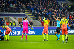 November 6, 2019, Milano, Italy: sending off claudio bravo (manchester city)during Tournament round, group C, Atalanta vs Manchester City, Soccer Champions League Men Championship in Milano, Italy, November 06 2019 - LPS/Fabrizio Carabelli (Credit Image: © Fabrizio Carabelli/LPS via ZUMA Wire)