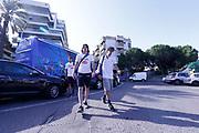 Ariel Filloy, Amedeo Della Valle<br /> Raduno Nazionale Maschile Senior<br /> Allenamento mattina, sala pesi<br /> Cagliari, 02/08/2017<br /> Foto Ciamillo-Castoria/ M. Brondi
