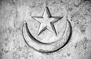 Crescent moon and star, Mosque on Male.<br />1990