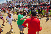 The inaugural Great American Bull Run in Petersburg, Virginia on Saturday, August 24, 2013.
