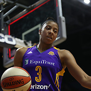 UNCASVILLE, CONNECTICUT- MAY 26:  Candace Parker #3 of the Los Angeles Sparks  during the Los Angeles Sparks Vs Connecticut Sun, WNBA regular season game at Mohegan Sun Arena on May 26, 2016 in Uncasville, Connecticut. (Photo by Tim Clayton/Corbis via Getty Images)