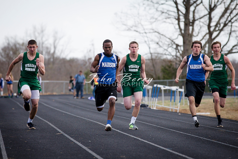 April 09, 2014.  <br /> MCHS Track and Field vs William Monroe