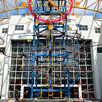 Great Gravity Clock at Science Museum in Fort Lauderdale, Florida<br /> Even before children walk through the front door of the Museum of Discovery and Science, they are mesmerized by this 52 foot Great Gravity Clock in the open-air atrium.  As giant balls twist along tracks, they make wheels spin and sounds blare in an orchestra of fun.  Inside they find interactive displays that entertain and educate. This venue hosts 150,000 school-age children a year and over half arrive during a school field trip.