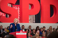 19 MAR 2017, BERLIN/GERMANY:<br /> Hannelore Kraft, SPD, Ministerpraesidentin Nordrhein-Westfalen, haelt eine Rede, a.o. Bundesparteitag, Arena Berlin<br /> IMAGE: 20170319-01-003<br /> KEYWORDS: party congress, social democratic party, speech