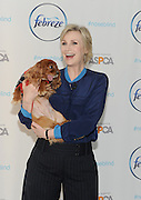 Jane Lynch, with Instagram star Toast Meets World, partners with Febreze to educate pet owners about getting their homes guest-ready by safely eliminating pet odors with Febreze products that are on the ASPCA Pet Friendly Living product list, Wednesday, Feb. 25, 2015, in New York.  (Photo by Diane Bondareff/Invision for Febreze/AP Images)