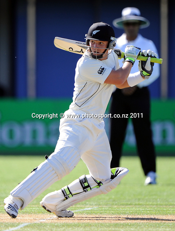 B J Watling batting on day 1 of the first cricket test, New Zealand v Zimbabwe at McLean Park. Thursday 26 January 2012. Napier, New Zealand. Photo: Andrew Cornaga/Photosport.co.nz