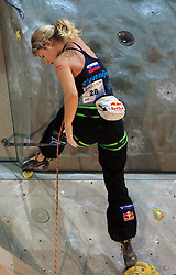 Slovenian climber Natalija Gros at World cup competition in Zlato polje, Kranj, Slovenia, on November 15, 2008.  (Photo by Vid Ponikvar / Sportida)