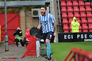 Coventry City defender Romain Vincelot celebrates his goal during the Sky Bet League 1 match between Swindon Town and Coventry City at the County Ground, Swindon, England on 24 October 2015. Photo by Jemma Phillips.