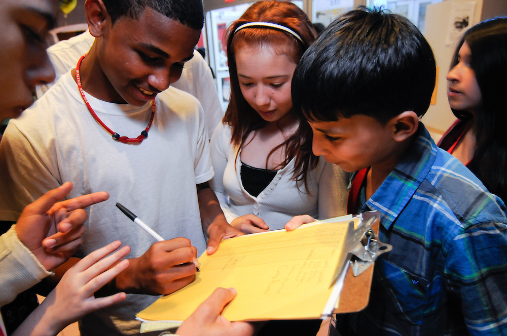 Citizen Schools students work together at the Garfield Middle School in Revere, MA.