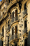 Barcellona, new architectures inspired by traditional architecture between the Ramblas e and the Barrio Gotico.