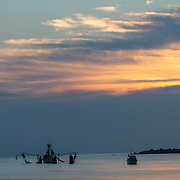 Sunrise at Matanzas Bay, St. Augustine, the oldest continuously occupied European-established settlement and port in the continental United States. Founded in September 1565 by Spanish admiral Pedro Menéndez de Avilés, serving as the capital of Spanish Florida for two hundred years. <br /> Photography by Jose More