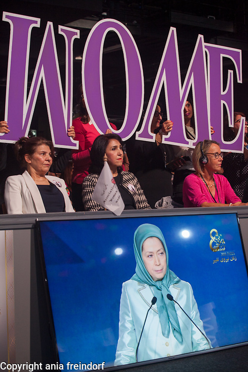 Paris conference on International Women's Day, the key speaker was Maryam Rajavi, the President-elect of the National Council of Resistance of Iran (NCRI), Maryam Rajavi.