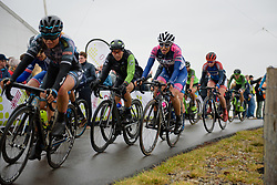 Giorgia Bronzini crests the VAMberg at Ronde van Drenthe 2018 - a 157.2 km road race on March 11, 2018, from Emmen to Hoogeveen, Netherlands. (Photo by Sean Robinson/Velofocus.com)
