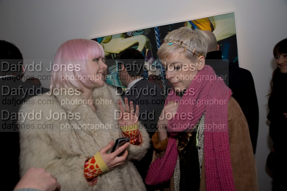FRANCESCA BURNS; DOROTHY BURNS, Miles Aldridge exhibition. Hamiltons. Carlos Place, London.  31 March 2009