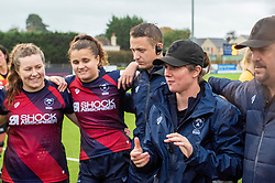 Bristol Bears Women head coach Kim Oliver talks to her players after defeating Richmond Women - Mandatory by-line: Paul Knight/JMP - 26/10/2019 - RUGBY - Shaftesbury Park - Bristol, England - Bristol Bears Women v Richmond Women - Tyrrells Premier 15s