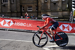 Dorka Jordan (HUN) at UCI Road World Championships 2019 Junior Women's TT a 13.7 km individual time trial in Harrogate, United Kingdom on September 23, 2019. Photo by Sean Robinson/velofocus.com