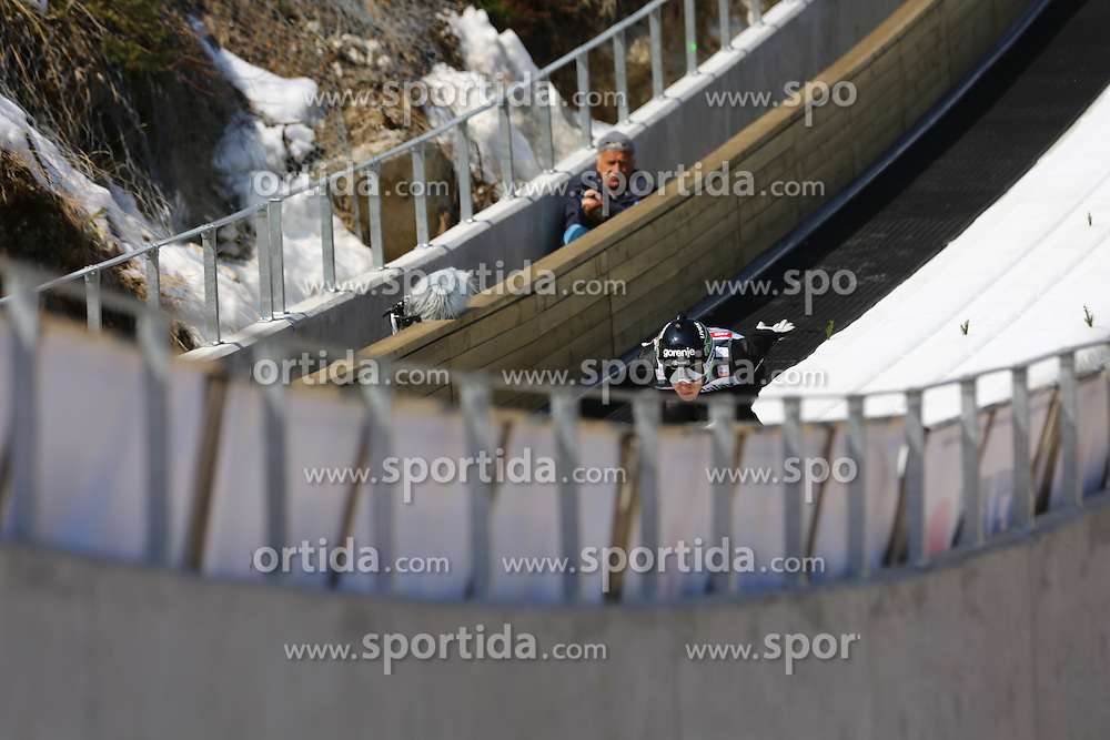 Jurij Tepes of Slovenia competes during the Ski Flying Individual Qualification at Day 1 of FIS World Cup Ski Jumping Final, on March 19, 2015 in Planica, Slovenia. Photo by Grega Valancic / Sportida