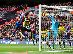 Yannick Bolasie of Crystal Palace scores the opening goal against Watford - Mandatory by-line: Robbie Stephenson/JMP - 24/04/2016 - FOOTBALL - Wembley Stadium - London, England - Crystal Palace v Watford - The Emirates FA Cup Semi-Final