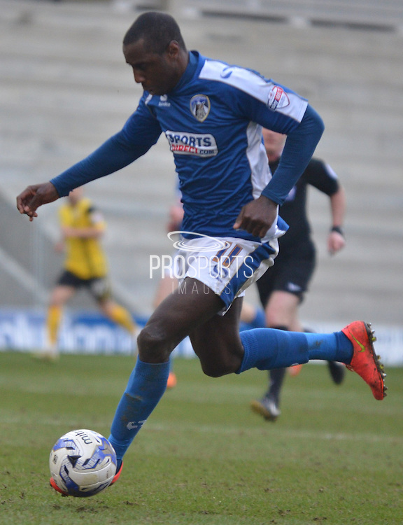 Jonathan Forte during the Sky Bet League 1 match between Oldham Athletic and Barnsley at Boundary Park, Oldham, England on 14 March 2015. Photo by Mark Pollitt.