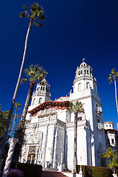 Exterior of Casa Grande, main house of Hearst Castle, San Simeon, California, United States of America
