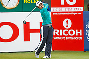 Mamiko Higa tees off from the 18th during the Ricoh Women's British Open golf tournament at Royal Lytham and St Annes Golf Club, Lytham Saint Annes, United Kingdom on 3 August 2018. Picture by Simon Davies.