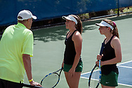 Tony Binder, Cassidy Binder, Madeline Krausteam. Idaho High School State Tennis Championships on May 20, 2017 at Boise State University's Appleton Tennis Complex, Boise, Idaho. <br /> <br /> Boise's girls doubles team of Jennifer Wong and Greta Walser won a thriller over Borah's Cassidy Binder and Madeline Krausteam, 6-4, 3-6, 7-6 (10-8) to claim the 5A girls doubles title.
