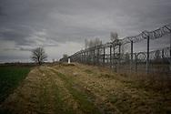The Serbian Hungarian border fence near the town of Gornji Tavankut, Serbia.  March 19th, 2017. Federico Scoppa/CAPTA