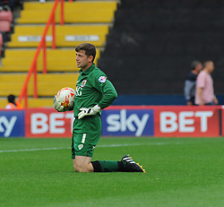 Bristol City Goalkeeper, Frank Fielding makes a save.  - Photo mandatory by-line: Nizaam Jones- Mobile: 07583 3878221 - 27/09/2014 - SPORT - Football - Bristol - Ashton Gate - Bristol City v MK Dons - Sports