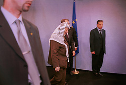 BRUSSELS, BELGIUM - MAY 31, 2001 - Yasser Arafat, leader of the PLO, visted the European Commission in Brussels, Thursday. (PHOTO © JOCK FISTICK)