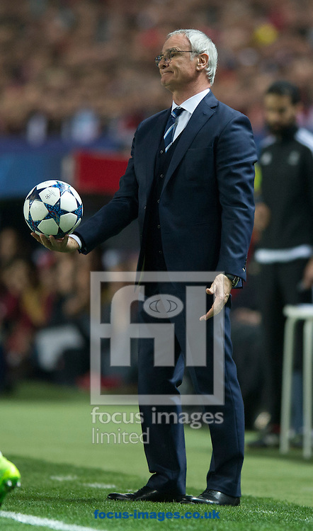 Leicester City manager Claudio Ranieri has a look of disappointment during the UEFA Champions League match at Ramon Sanchez Pizjuan Stadium, Seville<br /> Picture by Russell Hart/Focus Images Ltd 07791 688 420<br /> 22/02/2017