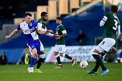 Ollie Clarke of Bristol Rovers is challenged by Josh Grant of Plymouth Argyle - Mandatory by-line: Ryan Hiscott/JMP - 01/12/2019 - FOOTBALL - Memorial Stadium - Bristol, England - Bristol Rovers v Plymouth Argyle - Emirates FA Cup second round