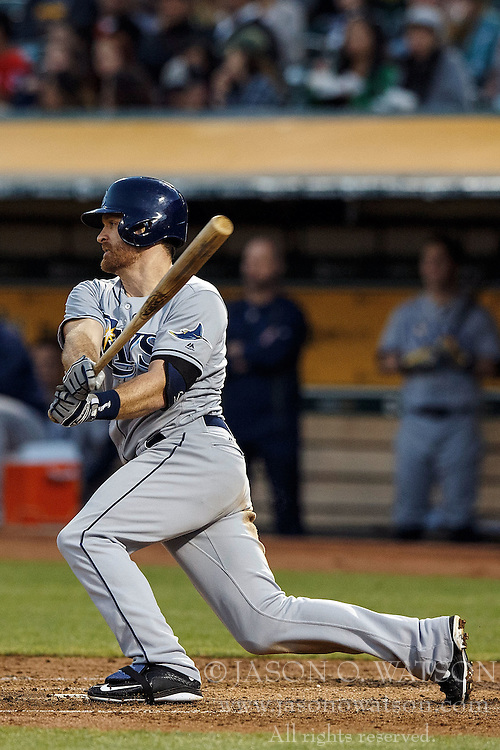 OAKLAND, CA - JULY 21:  Logan Forsythe #11 of the Tampa Bay Rays hits an RBI double against the Oakland Athletics during the fifth inning at the Oakland Coliseum on July 21, 2016 in Oakland, California. (Photo by Jason O. Watson/Getty Images) *** Local Caption *** Logan Forsythe