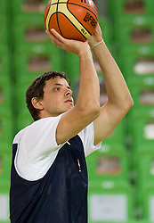 Bostjan Nachbar at practice of Slovenia basketball team before opening of the new sports arena in Stozice on August 10, 2010, in Ljubljana, Slovenia.  (Photo by Vid Ponikvar / Sportida)