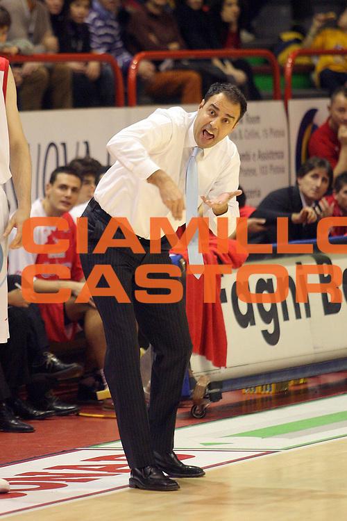 DESCRIZIONE : Pistoia Lega A2 2009-10 Carmatic Pistoia Umana Reyer Venezia<br /> GIOCATORE : Coach Moretti Paolo<br /> SQUADRA : Carmatic Pistoia<br /> EVENTO : Campionato Lega A2 2009-2010<br /> GARA : Carmatic Pistoia Umana Reyer Venezia<br /> DATA : 06/12/2009<br /> CATEGORIA : <br /> SPORT : Pallacanestro<br /> AUTORE : Agenzia Ciamillo-Castoria/Stefano D'Errico<br /> Galleria : Lega Basket A2 2009-2010 <br /> Fotonotizia : Pistoia Lega A2 2009-2010 Carmatic Pistoia Umana Reyer Venezia<br /> Predefinita :