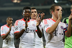 23.10.2012, Grand Stade Lille Metropole, Lille, OSC Lille vs FC Bayern Muenchen, im Bild David ALABA (FC Bayern Muenchen - 27) applaudiert den Fans // during UEFA Championsleague Match between Lille OSC and FC Bayern Munich at the Grand Stade Lille Metropole, Lille, France on 2012/10/23. EXPA Pictures © 2012, PhotoCredit: EXPA/ Eibner/ Gerry Schmit..***** ATTENTION - OUT OF GER *****