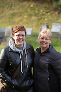 """Diana Batchelor, left, and her mother Katherine Batchelor pose for a portrait after visiting the gravesite of Susan B. Anthony, the social reformer who played a key part in the movement for women's suffrage, at Mount Hope Cemetery in Rochester on Tuesday, November 8, 2016.<br /> <br /> """"Women didn't even the right to vote until 1920, and here we are...voting for the first female president. It's encouraging, it's inspiring, and it shows how far we've gotten. It puts a lot of things in perspective to come here and see the grave of one of the people who fought for it.""""<br /> <br /> """"When I look at my daughter I'm encouraged, and I'm inspired...it's important to look back at how hard the battles were fought for where we are now."""""""