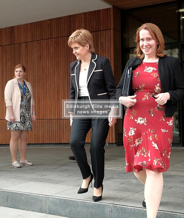 Theresa May meets with Nicola Sturgeon in Edinburgh, Tuesday 7th August 2018<br /> <br /> Pictured: Nicola Sturgeon<br /> <br /> Alex Todd | Edinburgh Elite media