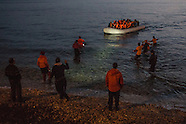 Arrive of refugees on Lesvos 29.02