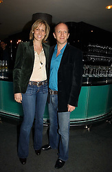 SIMON & SANTA SEBAG-MONTEFIORE at a party to launch Three's A Crowd held at the Mayfair Hotel, Berkley Street, London on 5th December 2006.<br /><br />NON EXCLUSIVE - WORLD RIGHTS