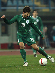 Dalibor Stevanovic (10) during the the second half of UEFA Friendly match between national teams of Slovenia and Denmark at the Stadium on February 6, 2008 in Nova Gorica, Slovenia.  Slovenia lost 2:1. (Photo by Vid Ponikvar / Sportal Images).