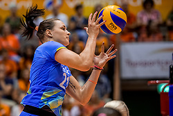 26-08-2017 NED: World Qualifications Netherlands - Slovenia, Rotterdam<br /> De Nederlandse volleybalsters plaatsten zich eenvoudig voor het WK volgend jaar in Japan. Ook Sloveni&euml; wordt met 3-0 verslagen / Tina Grudina #21 of Slovenia