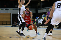 Lewis Champion of Bristol Flyers drives at the London Lions defence - Photo mandatory by-line: Arron Gent/JMP - 20/11/2019 - BASKETBALL - Copper Box Arena - London, England - London Lions v Bristol Flyers - British Basketball League Cup