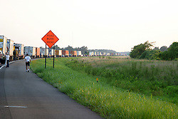 23 July2005.  Traffic has slowed to parking lot status on I-55 south-bound near the 25 mile marker in Arkansas.  A four person fatality accident was the cause.  The accident occured around 7 pm.