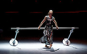 Diana Vishneva<br /> On the Edge <br /> at The London Coliseum, London, Great Britain <br /> 14th April 2015 <br /> <br /> Switch <br /> <br /> choreography by Jean-Christophe Maillot <br /> <br /> Diana Vishneva<br /> <br /> <br /> Photograph by Elliott Franks <br /> Image licensed to Elliott Franks Photography Services
