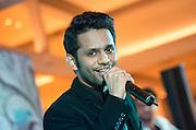 Rahul Vaidya from Indian Pop Idol performs at the Aberdeen Marina Club in Aberdeen Hong Kong.14.11.14.14th November 2014