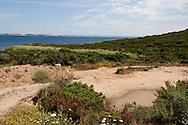 projected area for jaques Seguela house in Calalonga beach near Bonifacio, Corsica south  /  le chantier de construction de la maison de jaques Seguela est arrete, Cala longa  pres de Bonifacio, Corse du sud