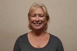 white woman smiling