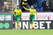 Norwich City forward Josip Drmić (20) celebrates his goal  during the The FA Cup match between Burnley and Norwich City at Turf Moor, Burnley, England on 25 January 2020.