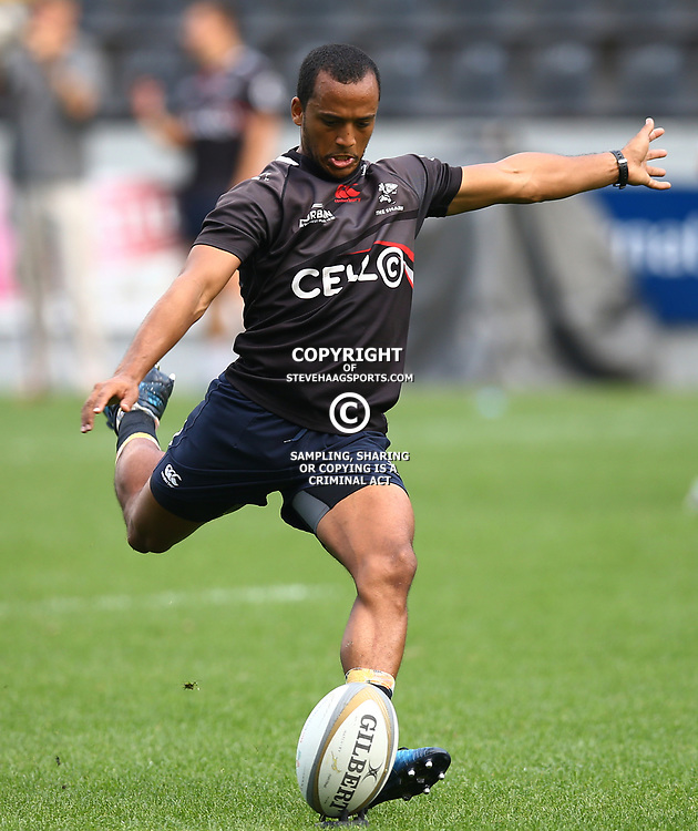Rhyno Smith during The Cell C Sharks captain's run at Growthpoint Kings Park in Durban, South Africa. 3rd August 2017(Photo by Steve Haag)<br /> <br /> images for social media must have consent from Steve Haag